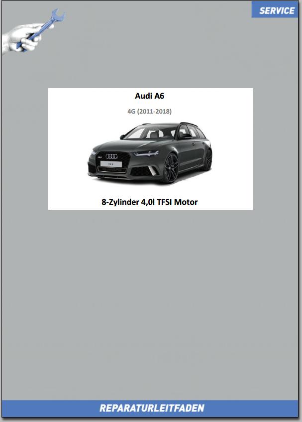 Audi A6 4G Reparaturleitfaden Motor 8-Zyl. 4,0l TFSI Motor