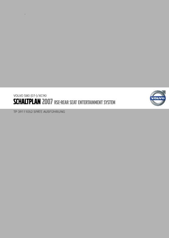 Volvo V70 Werkstatthandbuch Schaltpläne 2007