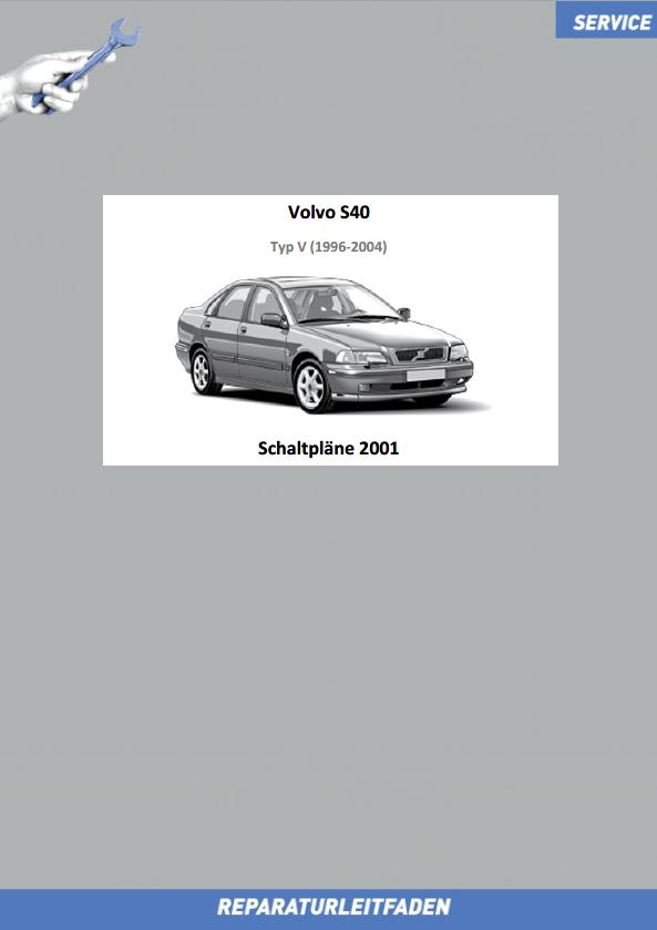 Volvo V40 Werkstatthandbuch Schaltpläne 2001