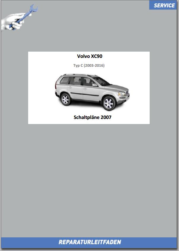Volvo XC90 Werkstatthandbuch Schaltpläne 2008