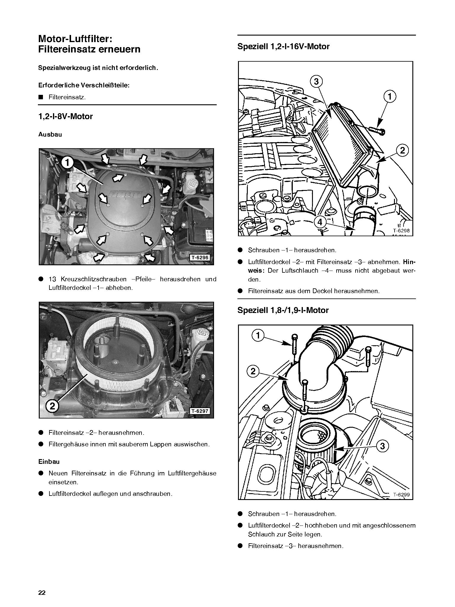 Fiat Punto (99-06) Reparaturanleitung So wird`s gemacht Delius 125