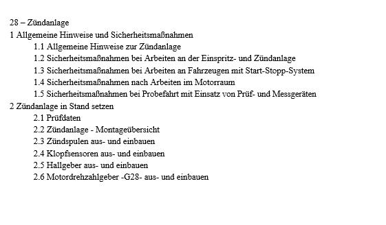 Audi A6 4G Reparaturleitfaden 4,0l TFSI Einspritz‐ und Zündanlage