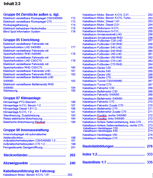 Volvo C70 Werkstatthandbuch Schaltpläne 2012