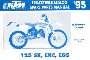 KTM 125 SX, MXC, EXC, EGS - Ersatzteilkatalog Chassis