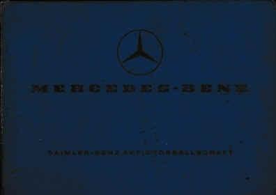 Mercedes L 206/306 DG - Sonderausführungsverzeichnis Aufbau - Werkstatthandbuch