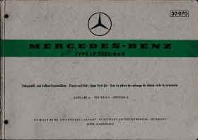Mercedes LP 2223 / 6x4 - Fahrgestell- und Aufbau-Ersatzteilliste, Parts List