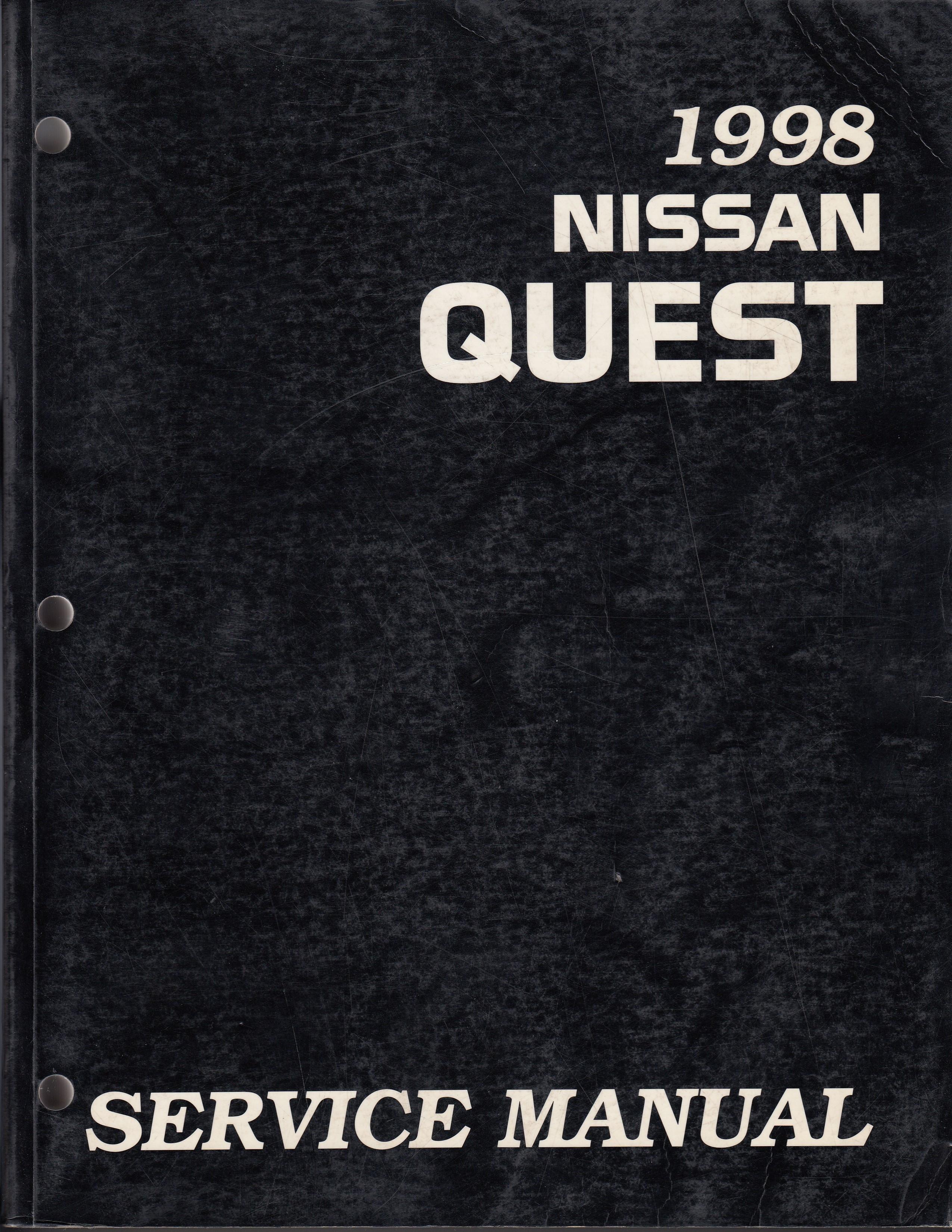 Nissan Quest (93-98) Werkstatthandbuch von 1998