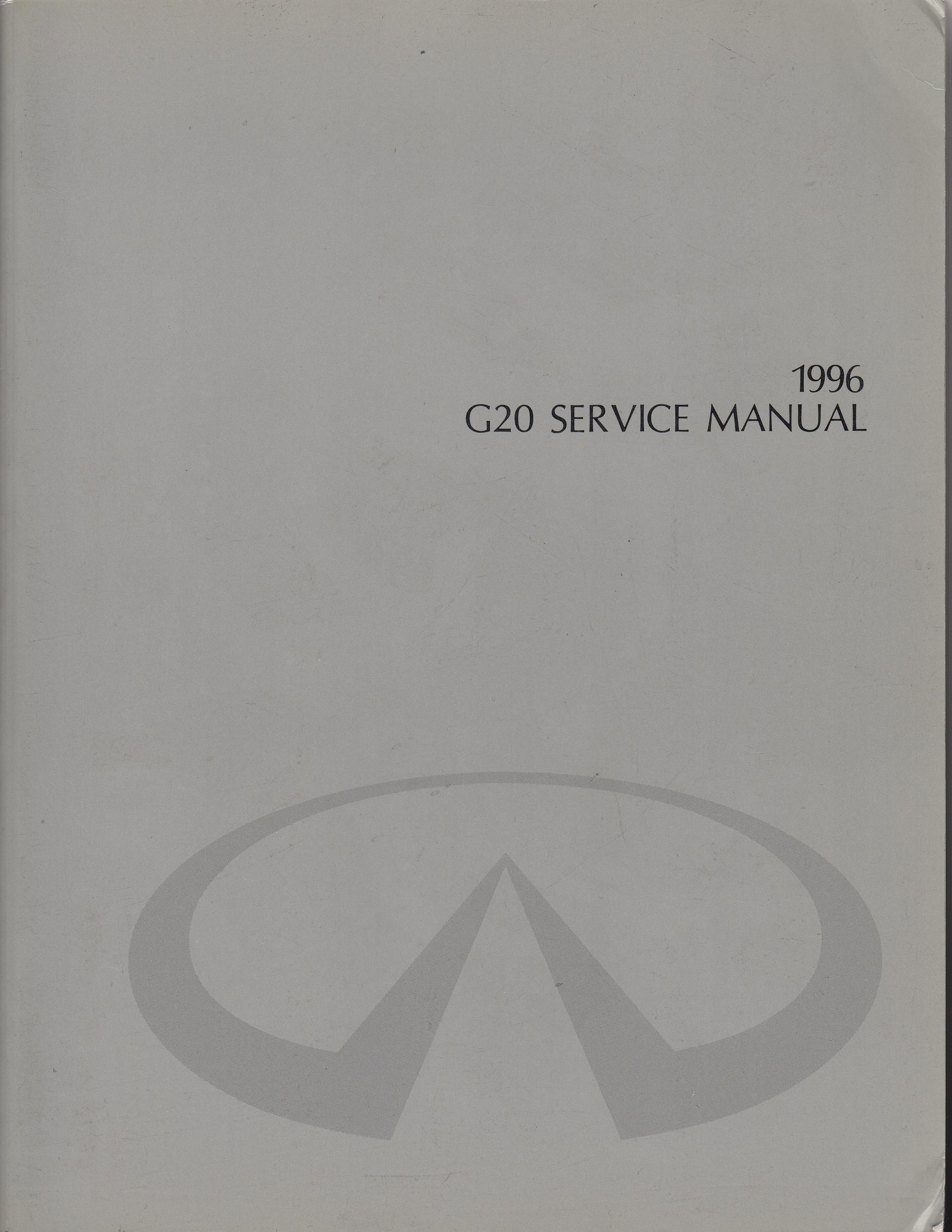 Infiniti G20 (90-96) Werkstatthandbuch von 1996