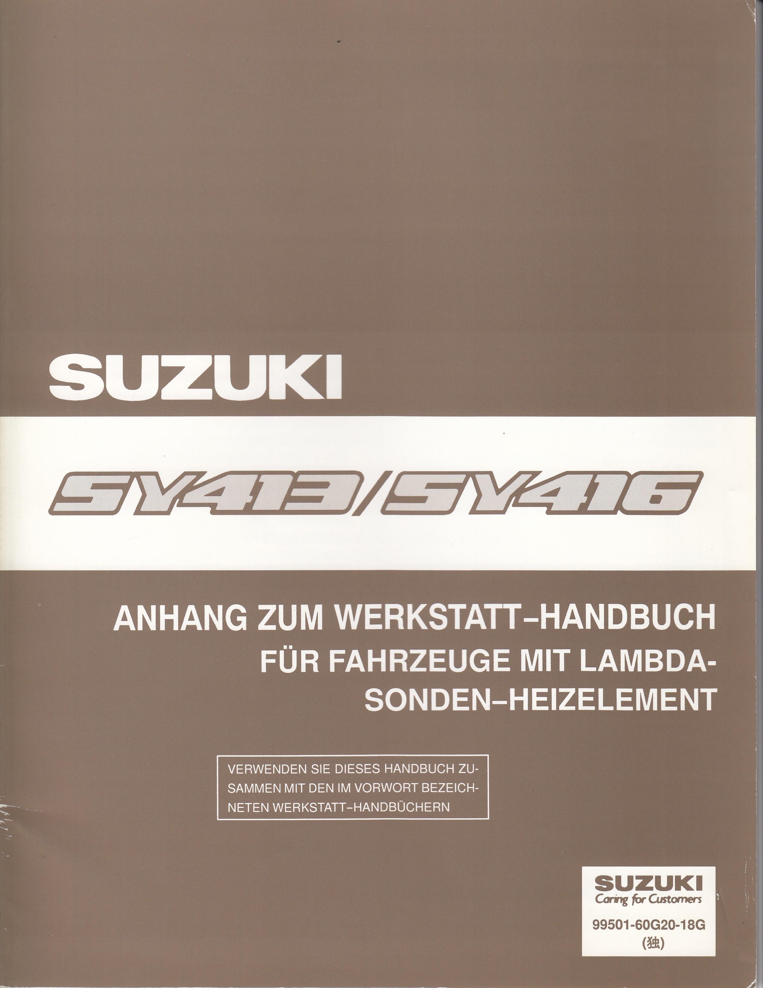 Suzuki Baleno (95-01) -  Werkstatthandbuch Lambda Sonden Heizelement von 1995