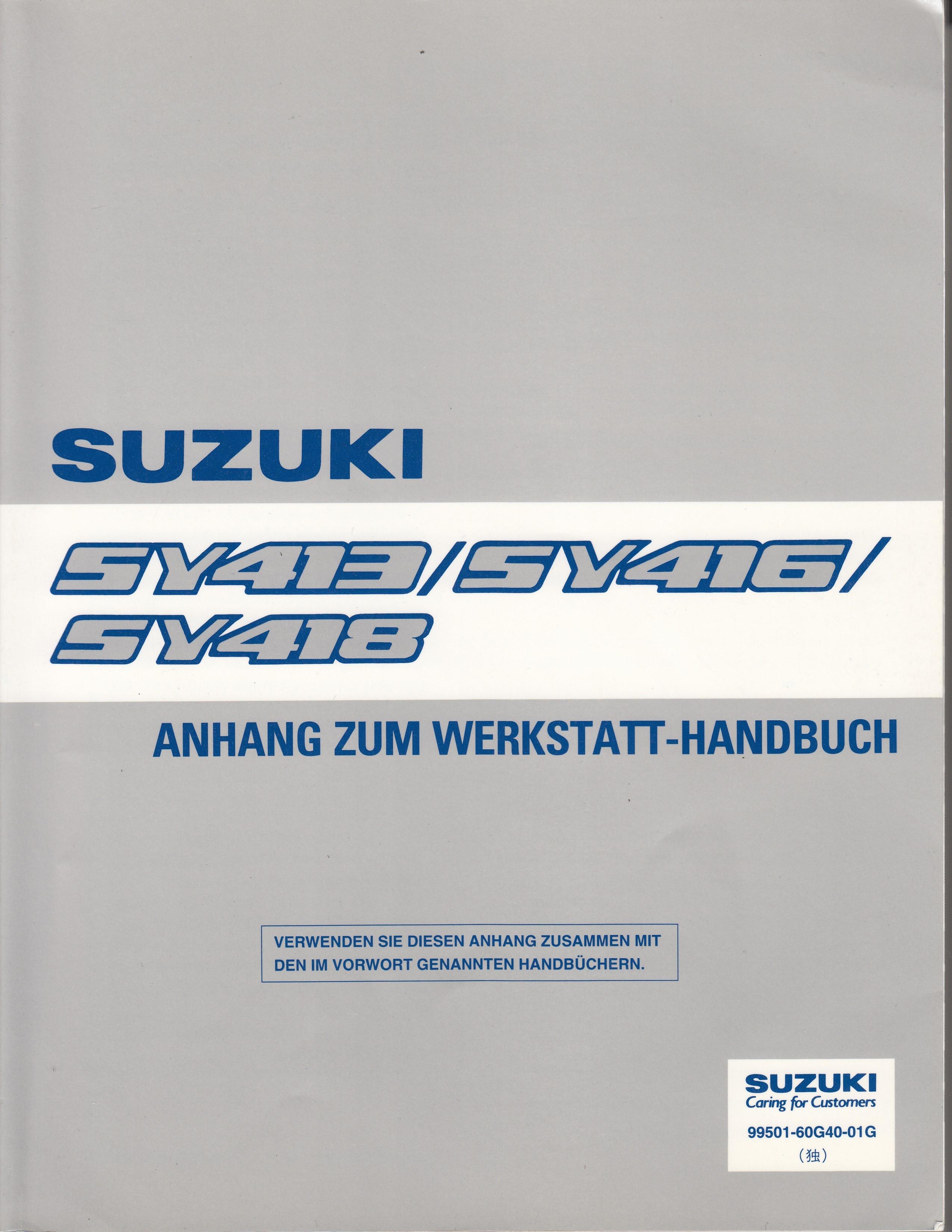 Suzuki Baleno (95-01) Werkstatthandbuch von 1997