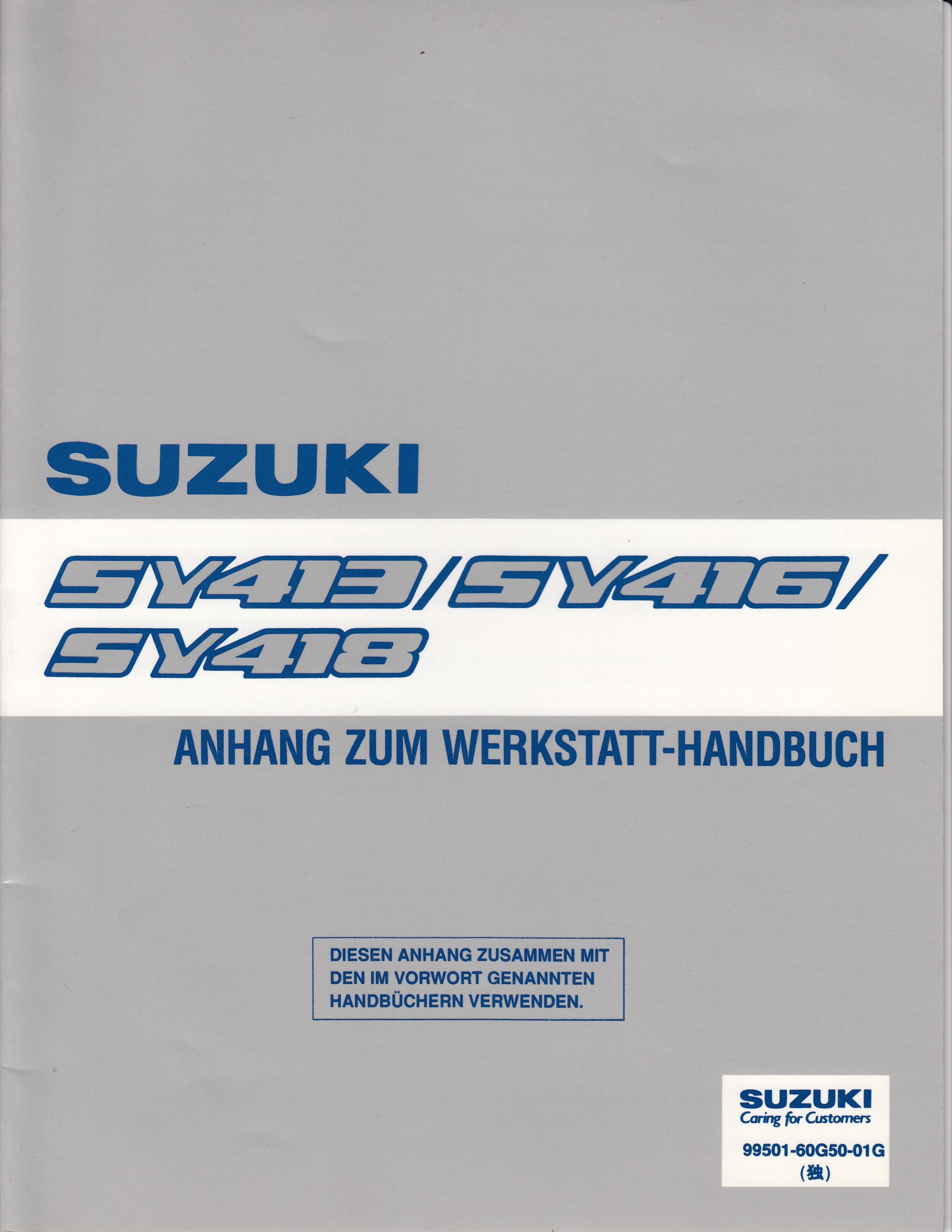 Suzuki Baleno (95-01) Werkstatthandbuch von 1998