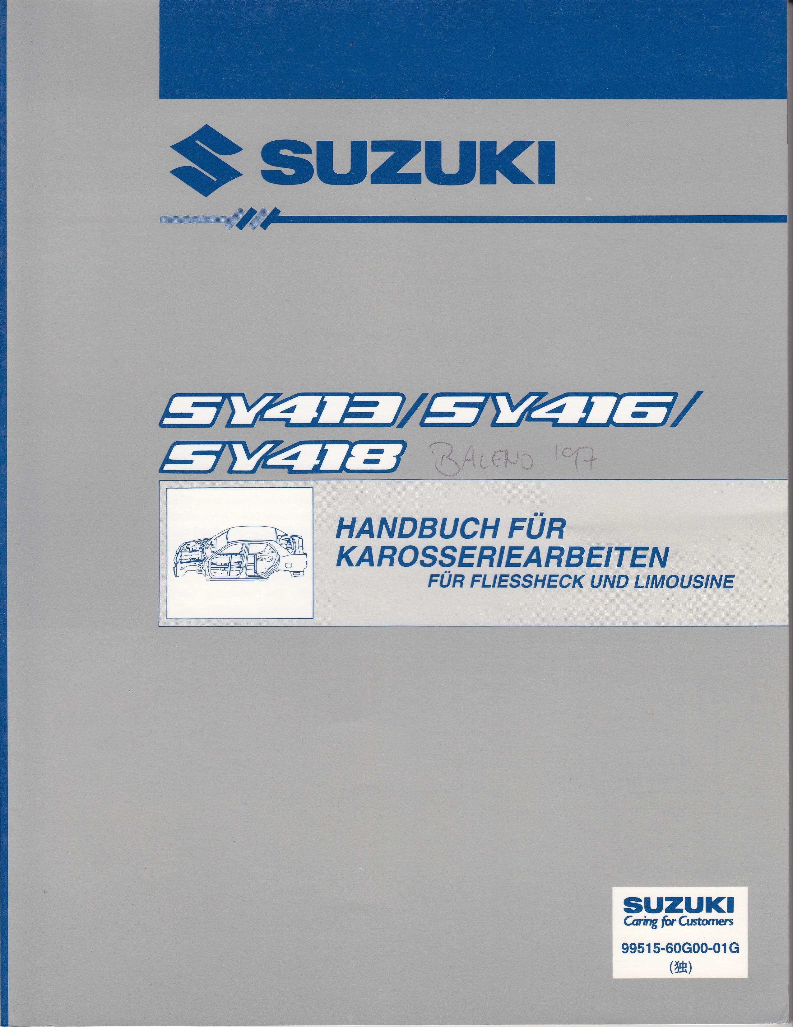 Suzuki Baleno (95-01) - Werkstatthandbuch Karosserie Fließheck / Limousine von 1996