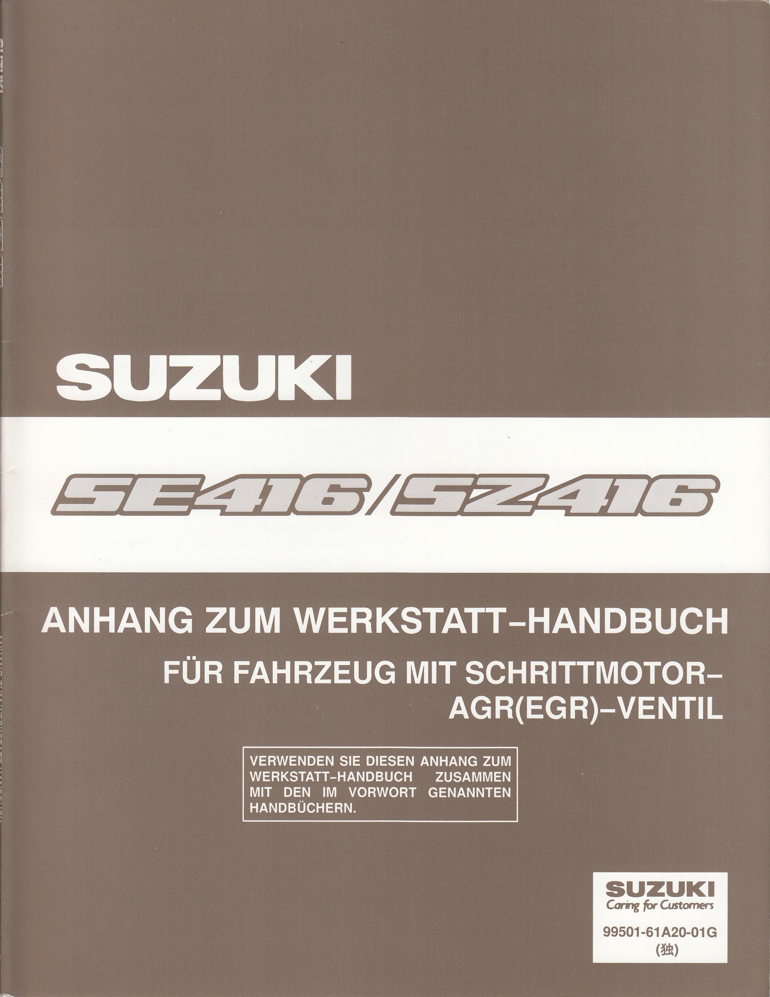 Suzuki Vitara SE416 / SZ416 (90-98) - Werkstatthandbuch Schrittmotor