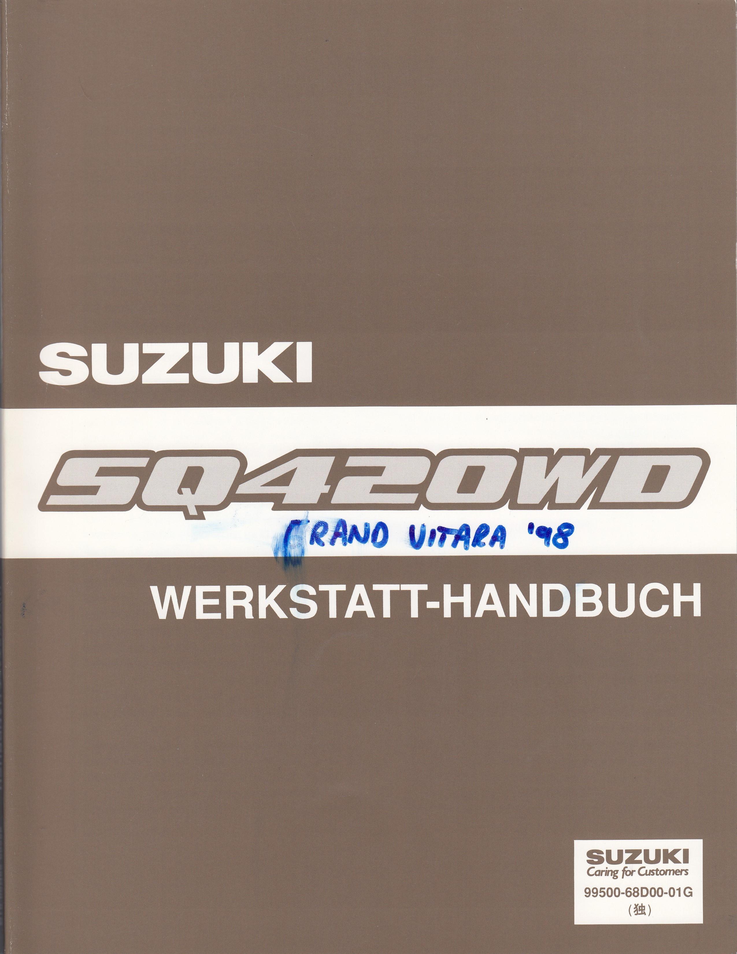 Suzuki Grand Vitara (98-05) - Anhang zum Werkstatthandbuch