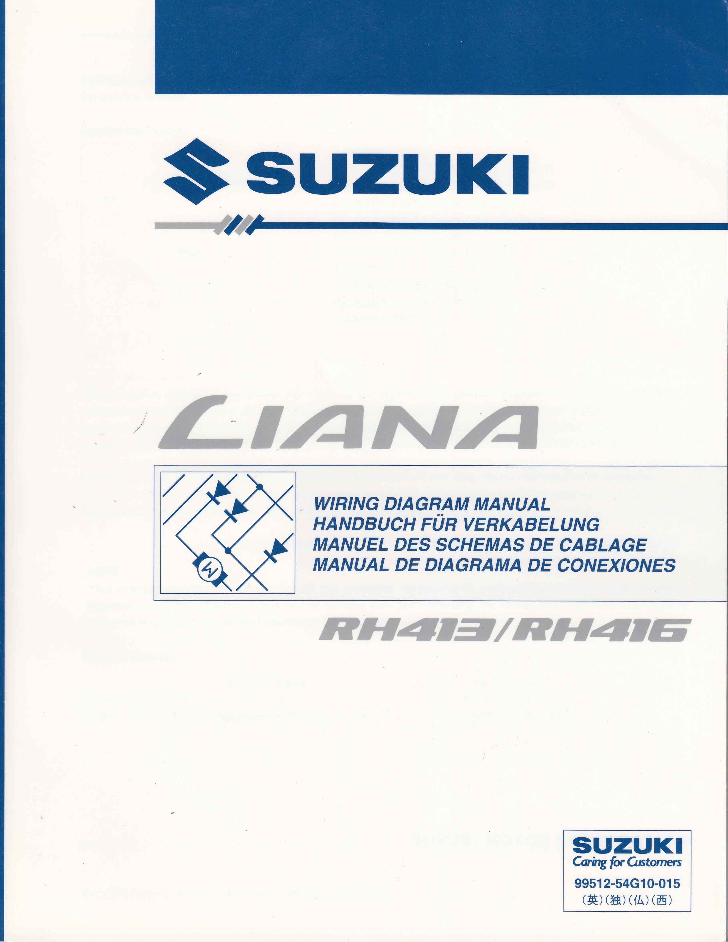 Suzuki Liana (01-07) - Schaltplan zum Werkstatthandbuch für 19,90 ...