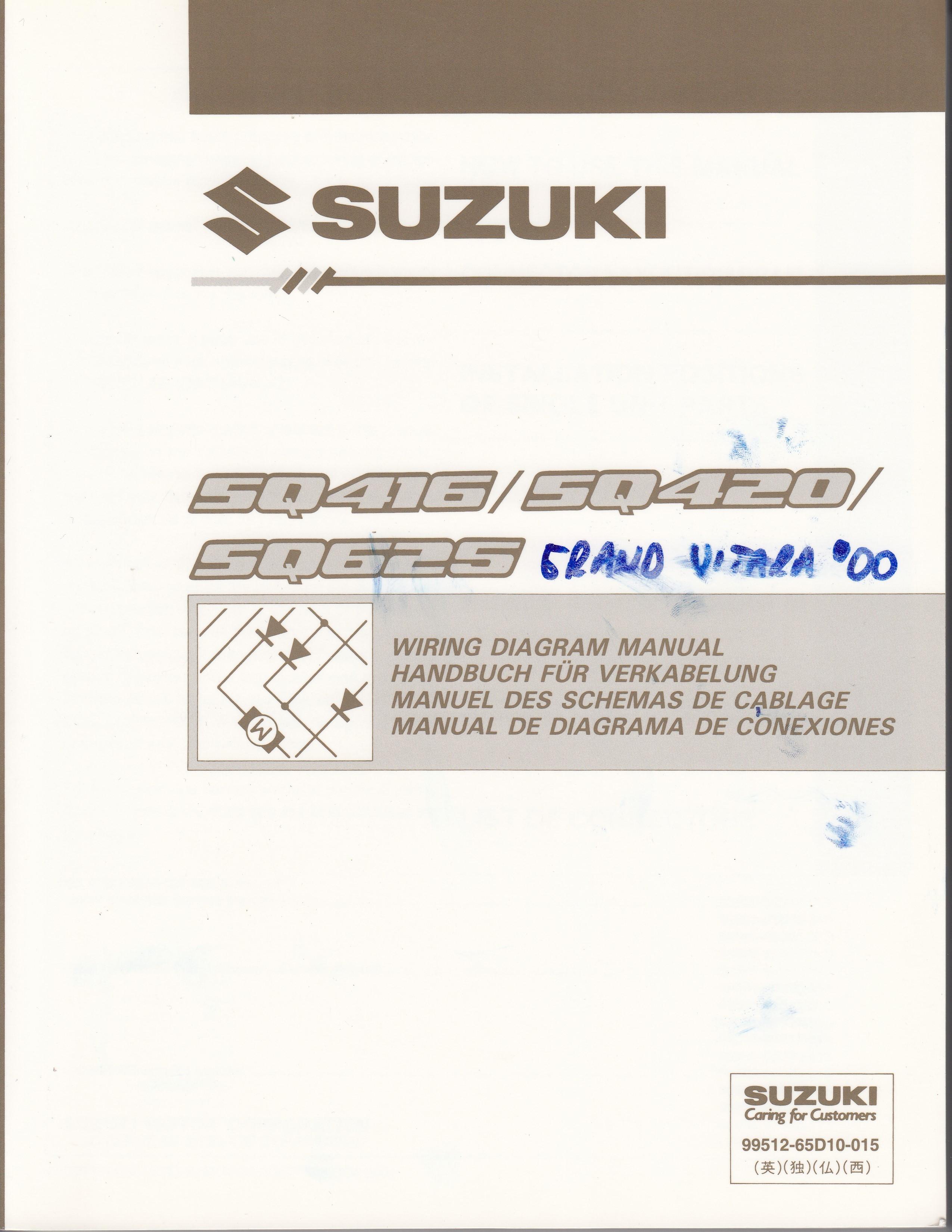 Suzuki Grand Vitara 98 05 Schaltplan Zum Werkstatthandbuch Fr Yamaha Xt 600 Tenere Wiring Diagram