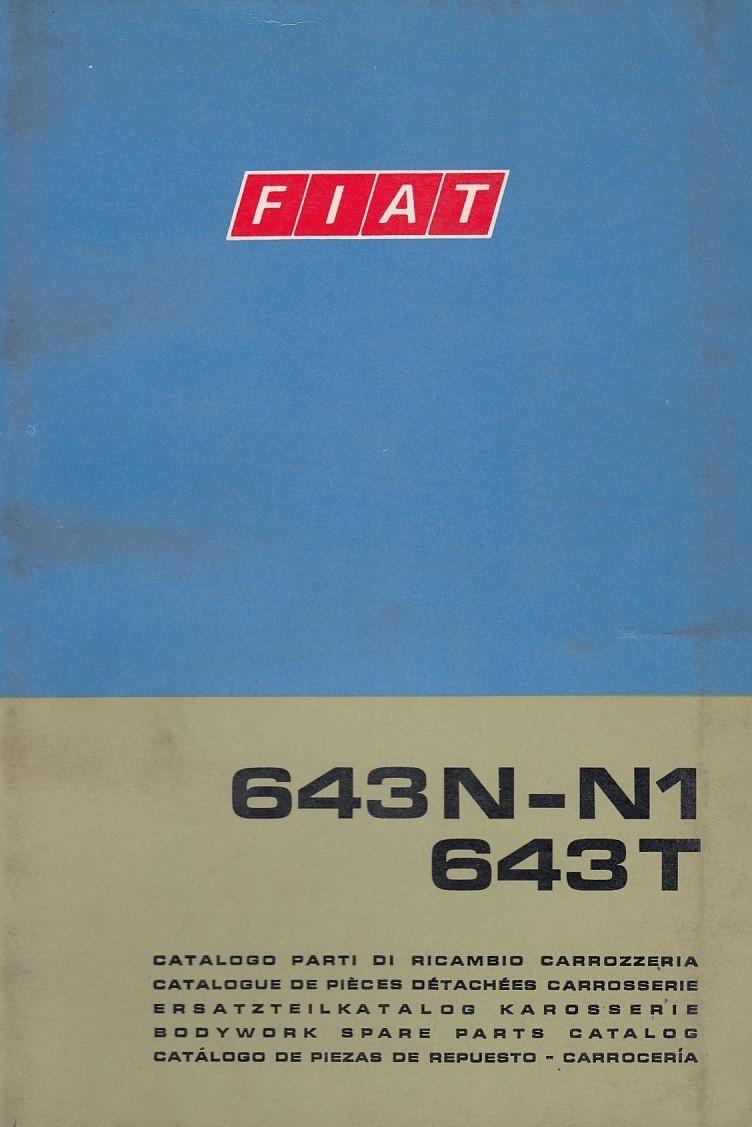 Fiat 643N-N1 / 643T (1968)  - Ersatzteilkatalog Karosserie
