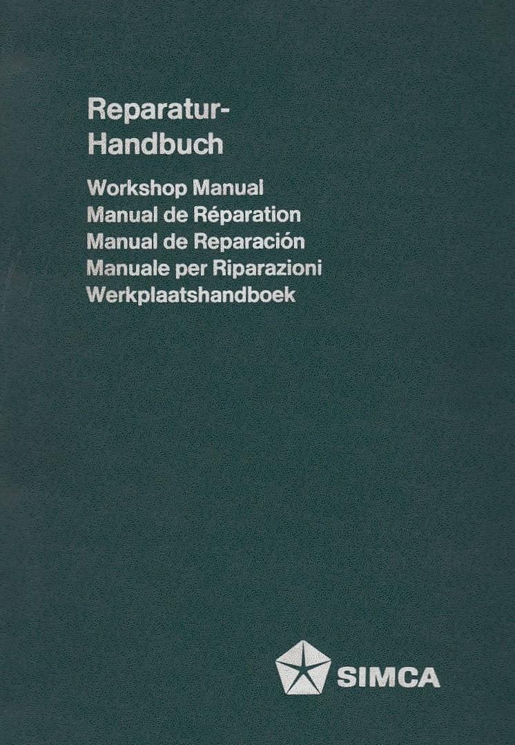 Simca 1100 (1974)  - Werkstatthandbuch Teil 1