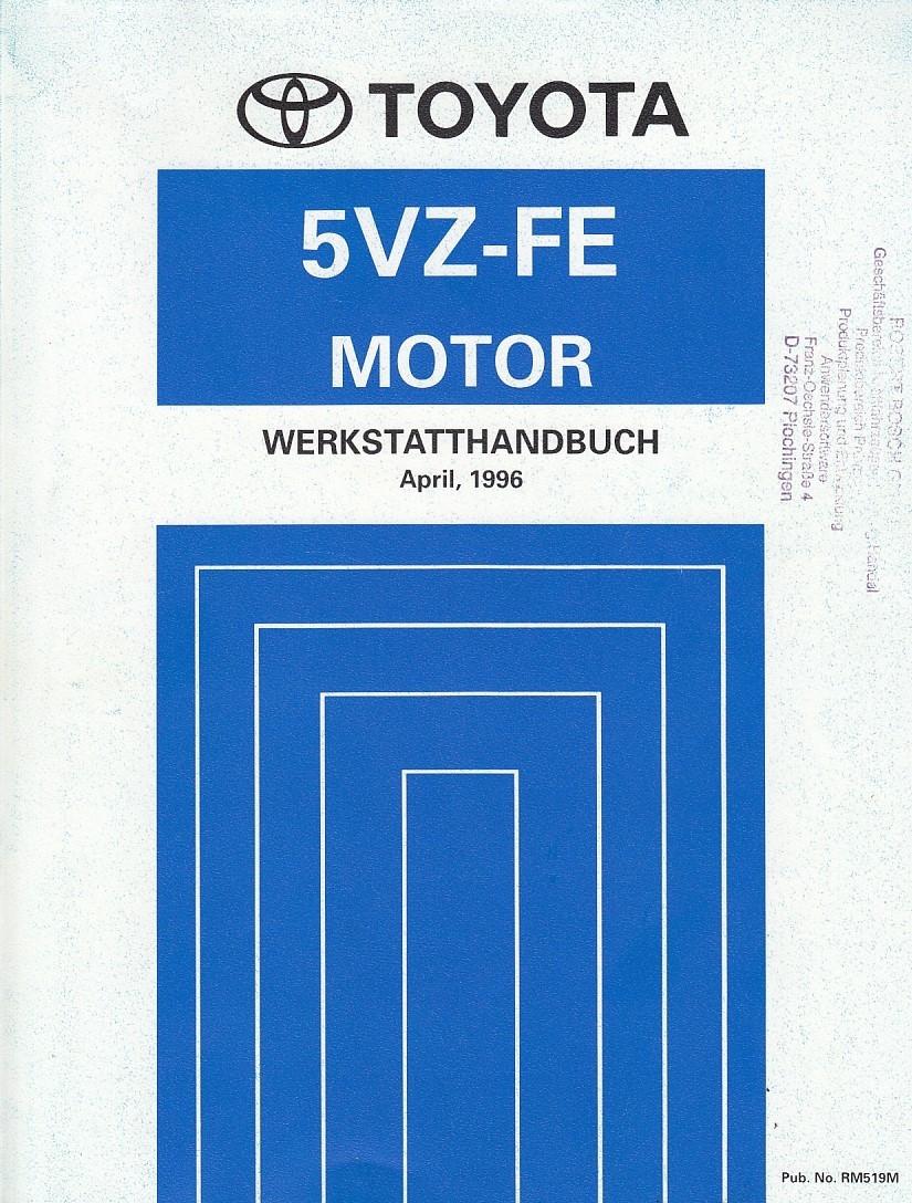 Toyota 5VZ-FE Motor Land Cruiser (1996)  - Werkstatthandbuch (RM519M)