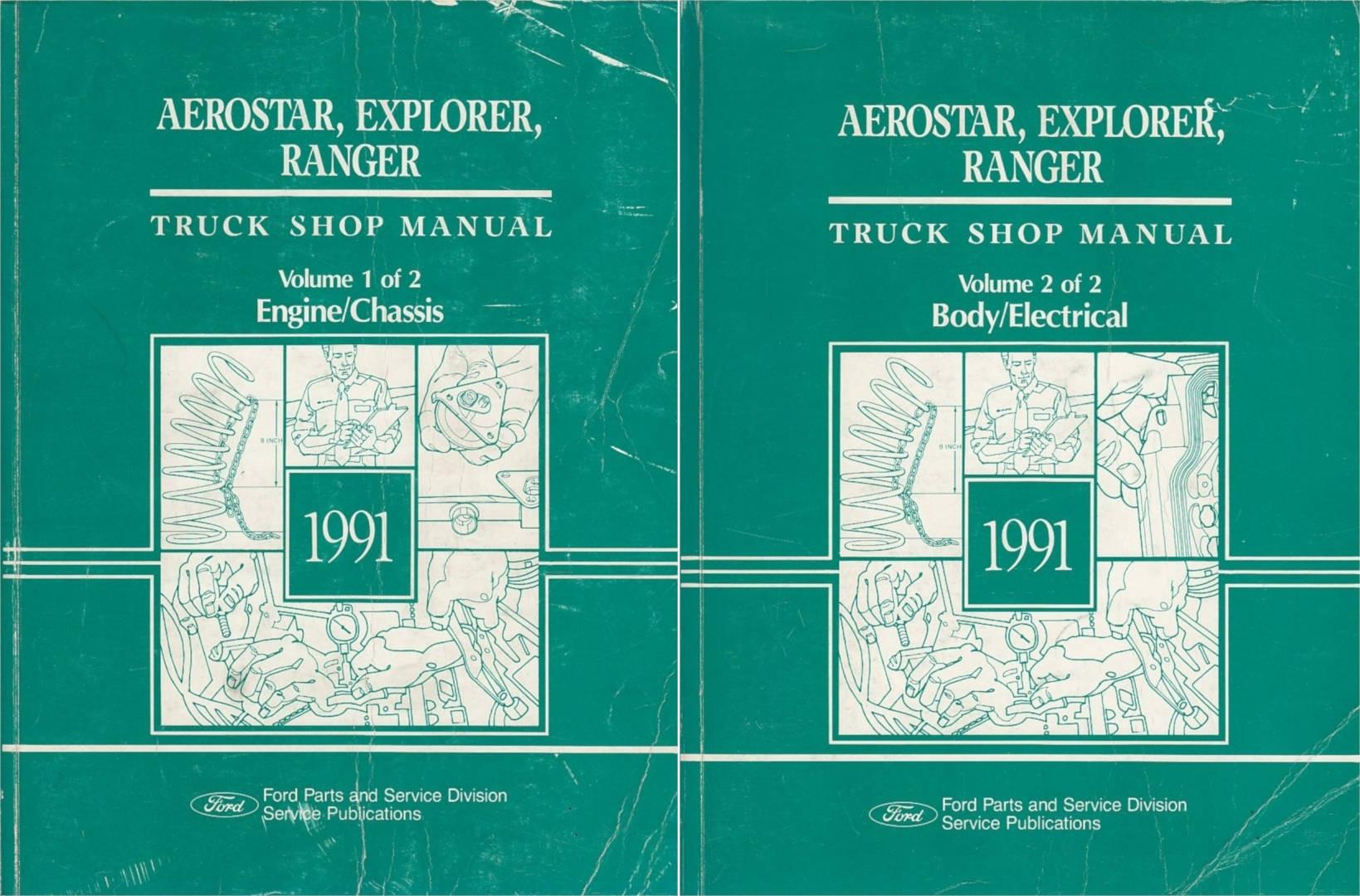 Ford Truck Shop Manual Aerostar Explorer Ranger 1991 Handbuch 2 Engine Wiring Schematic Teilig Fr 10990 Beim Tec Verlag
