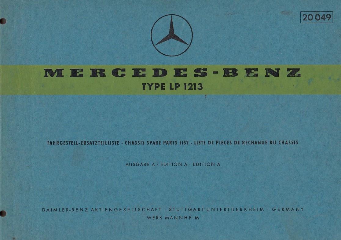 Mercedes Benz LP 1213 - (1966) - Ersatzteilkatalog
