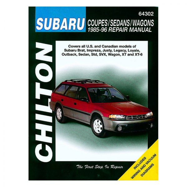 Subaru Coupes / Sedans / Wagons (85-96) Repair Manual Chilton