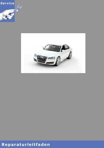 Audi A8 4H (10>) Achsantrieb hinten 0BF und 0BE - Reparaturleitfaden