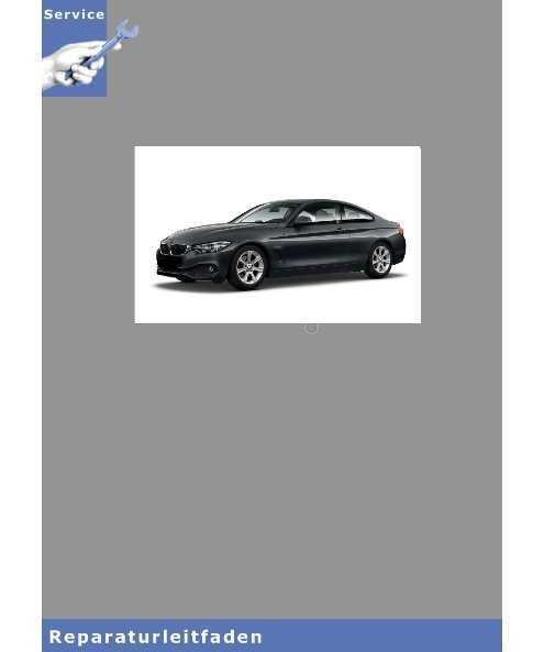 BMW 4er F83 (13-16) - Karosserie Ausstattung - Werkstatthandbuch