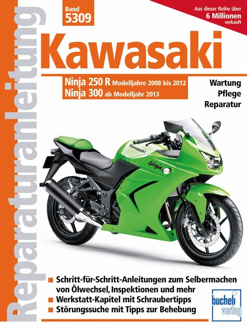 Kawasaki Ninja 250 R, 300 (08-13) - Reparaturanleitung