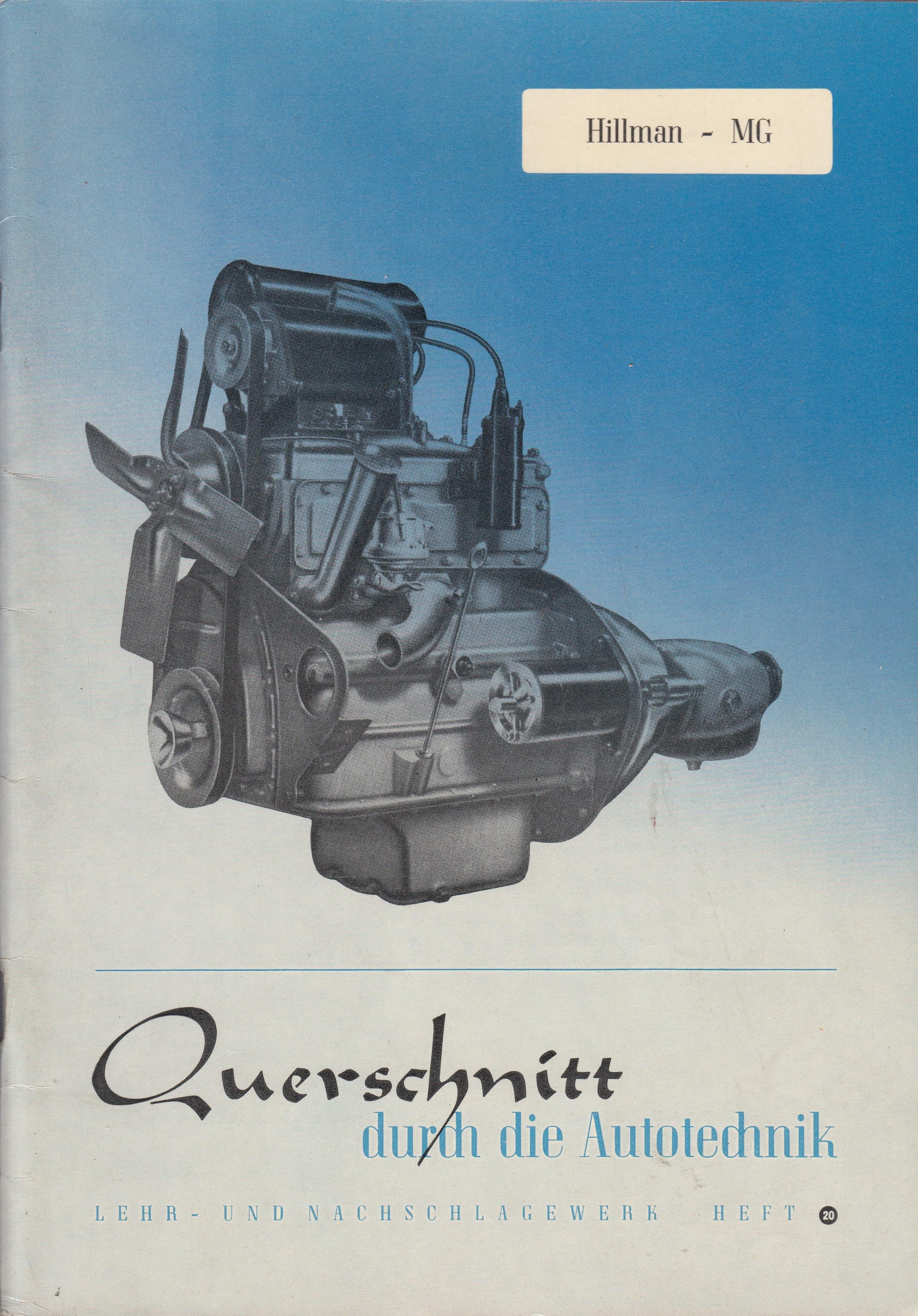 Hillmann Minx - MG Midget - Reparaturanleitung