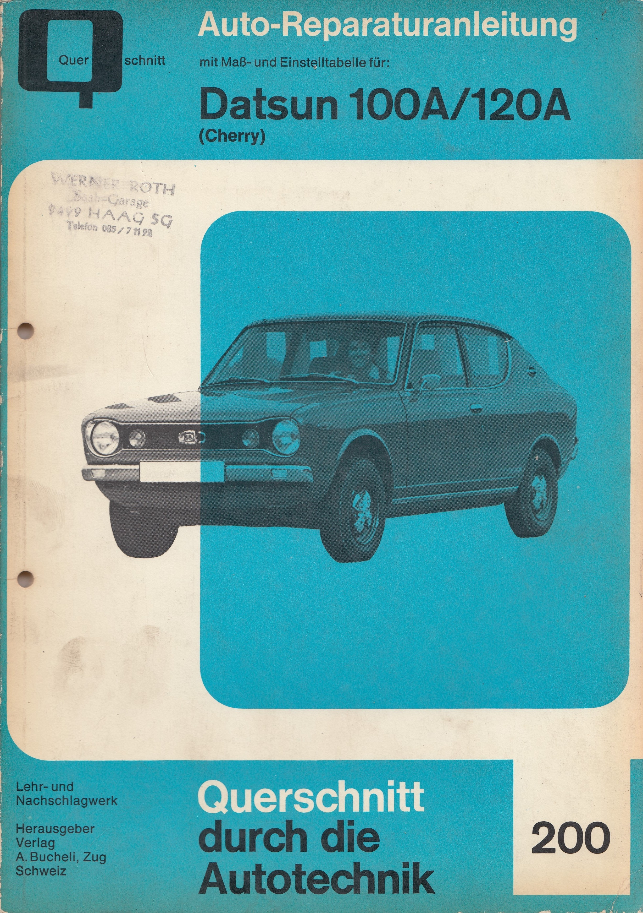 Datsun Cherry 100A/120A (70-77) - Reparaturanleitung
