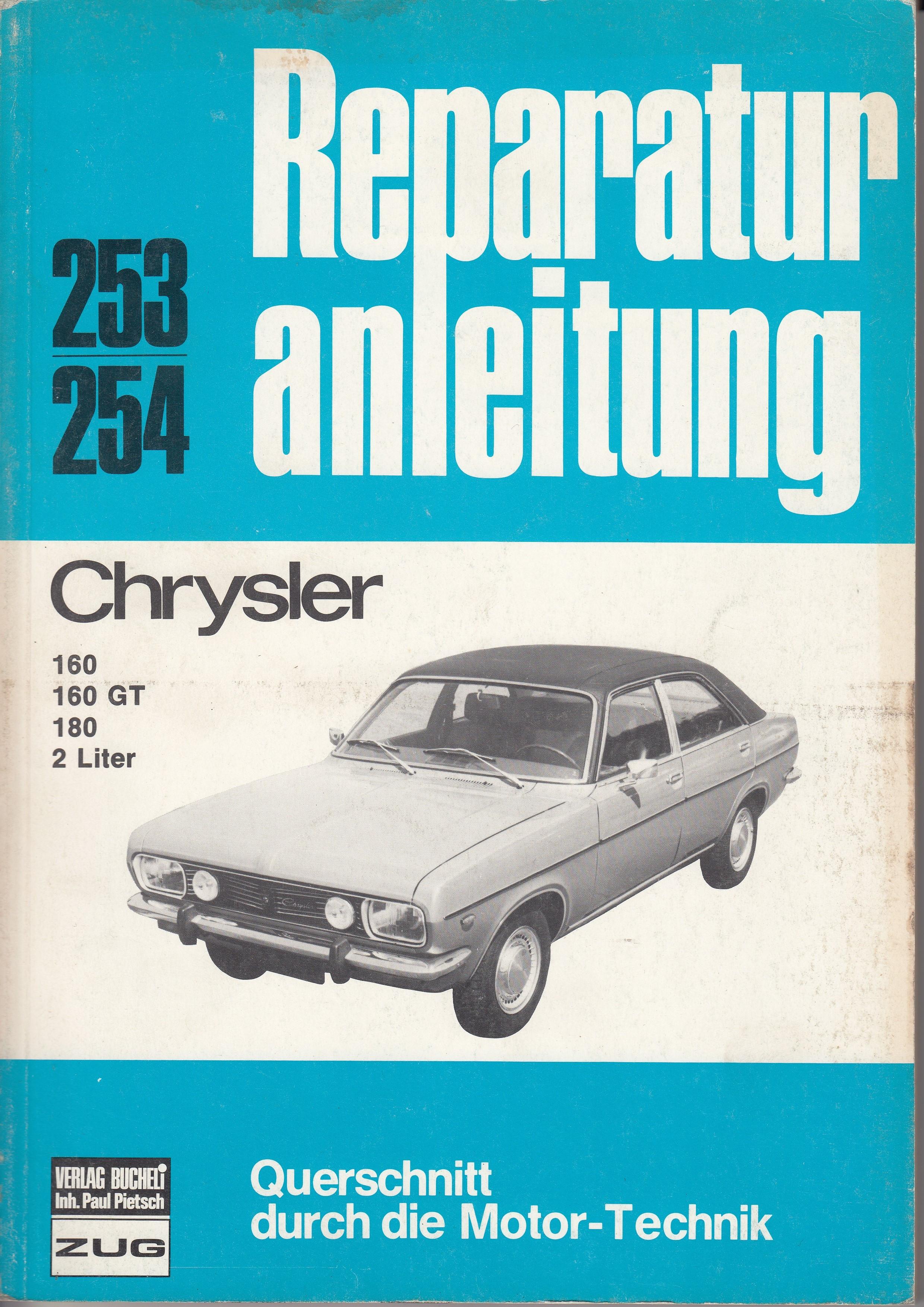 Chrysler 160/160 GT/180/2 Liter (70-81) - Reparaturanleitung