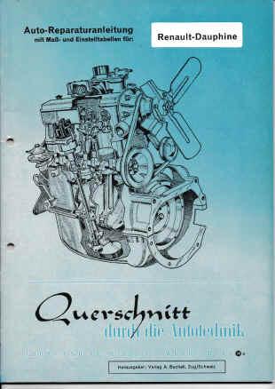 Renault-Dauphine (56-68) - Reparaturanleitung