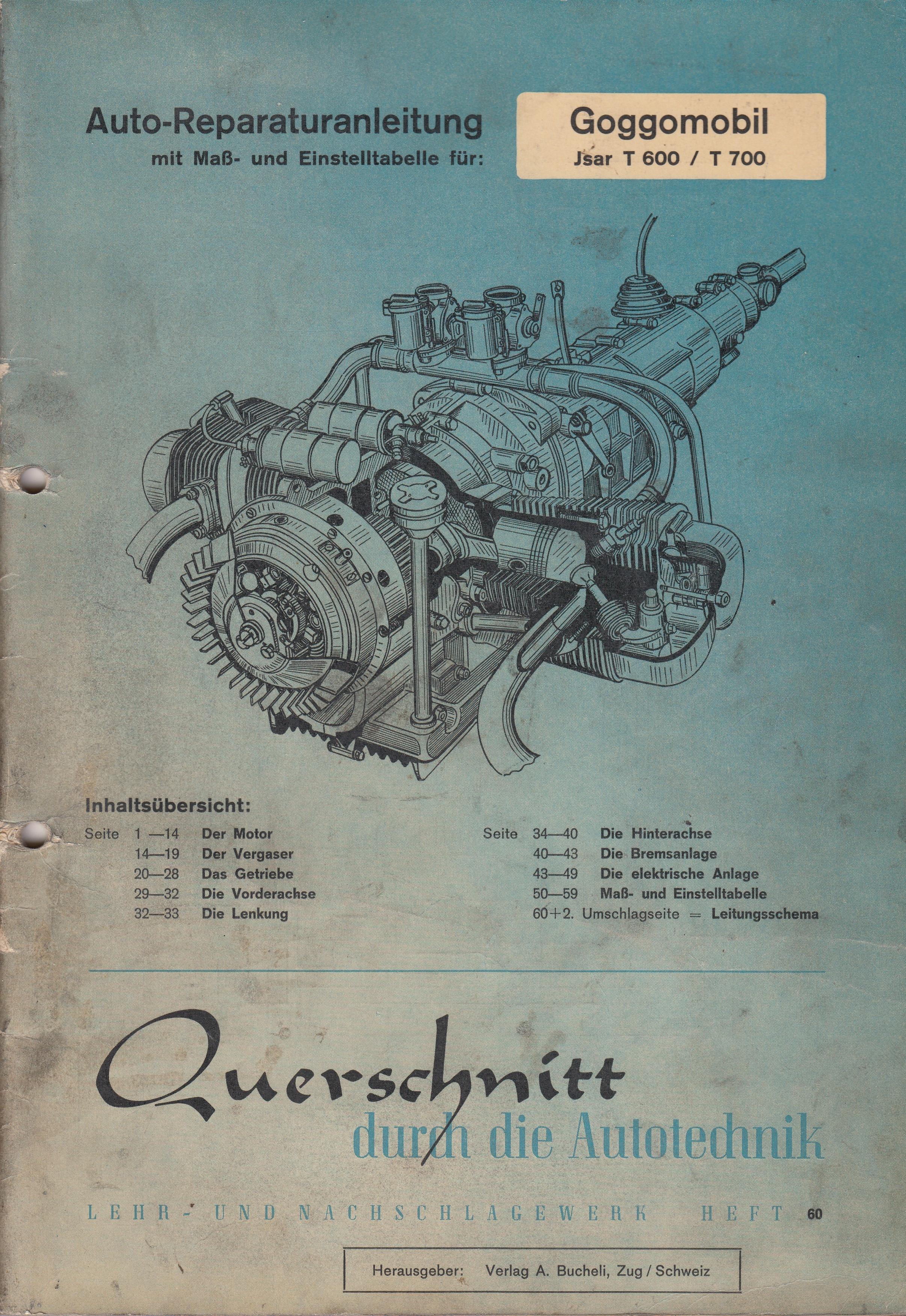 Goggomobil Jsar T 600 / T 700 - Reparaturanleitung