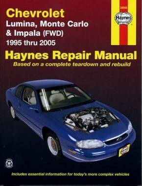 Chevrolet Lumina / Monte Carlo / Impala (FWD) (95 - 05) - Repair Manual Haynes