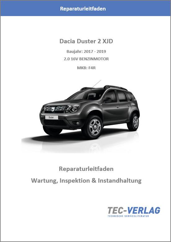 Dacia Duster 2 XJD  2,0 16V (17-19) - Reparaturleitfaden Wartung, Inspektion und Instandhaltung