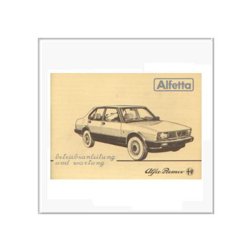 Alfa Romeo Alfetta (83-84) - Betriebsanleitung