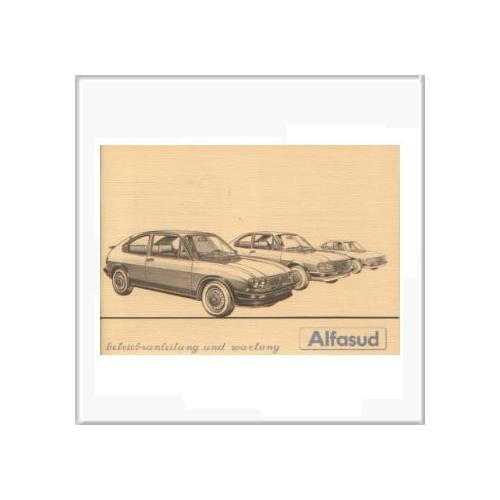 Alfasud (82-83) - Betriebsanleitung