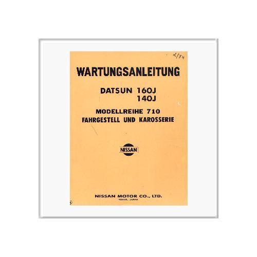 Datsun 140/160 J - Werkstatthandbuch