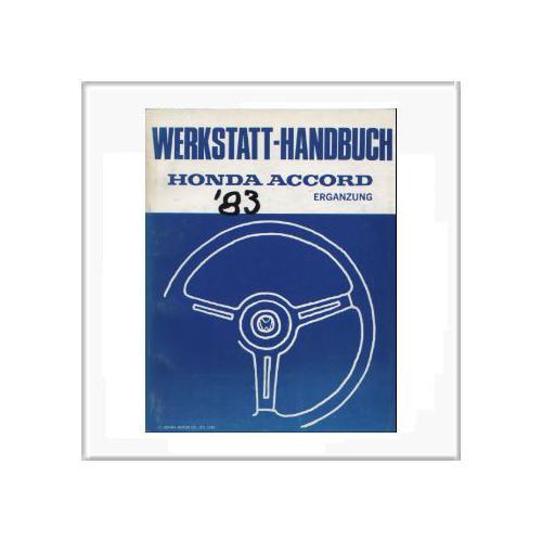 Honda Accord 1983 - Werkstatthandbuch Ergänzung