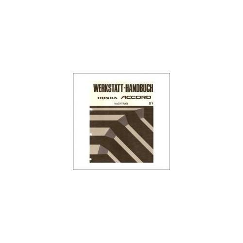 Honda Accord (91>) - Werkstatthandbuch - Nachtrag