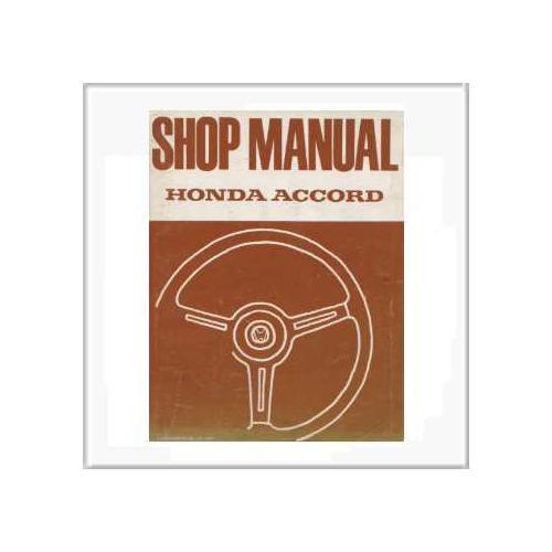 Honda Accord von 1977 - Workshop Manual
