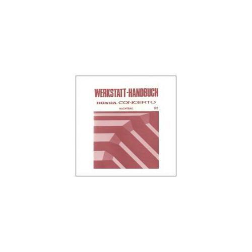 Honda Concerto (93>) - Werkstatthandbuch - Nachtrag