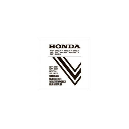 Honda Stromerzeuger EG 1000 bis 2500 X / ED Werkstatthandbuch Nachtrag 1995