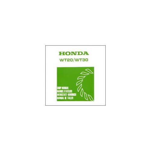 Honda WT 20 - WT 30 (82>) - Werkstatthandbuch