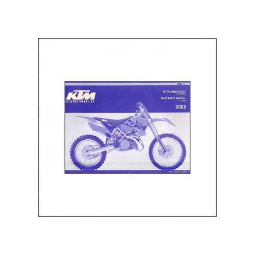 KTM 250 SX (>2003) - Ersatzkatalog Fahrgestell