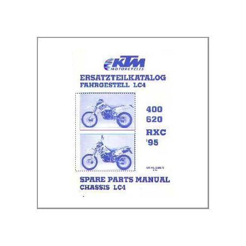 KTM 400/620 RXC - Ersatzteilkatalog Fahrgestell 1995