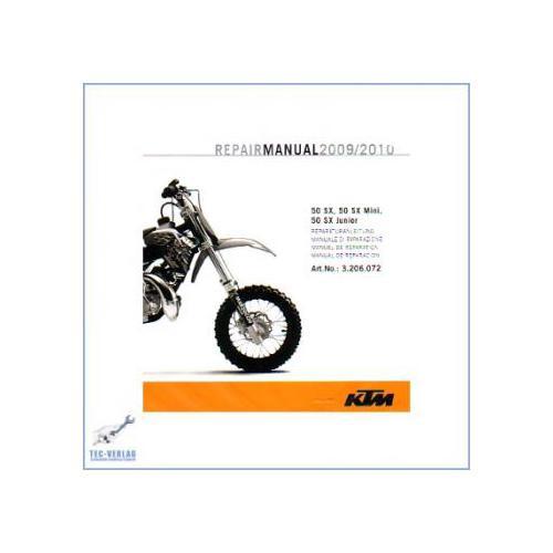 KTM 50 SX, Mini, Junior (2009-2019) - Werkstatthandbuch CD