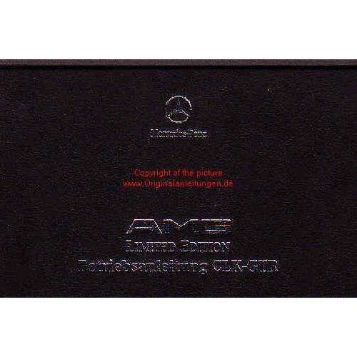 Mercedes Benz AMG CLK GTR Limited Edition - Betriebsanleitung