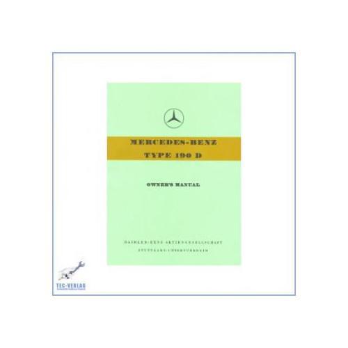Mercedes Benz W 121, 190 D (58-59) - Betriebsanleitung